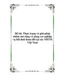 Đề tài: Thực trạng và giải pháp nhằm mở rộng và nâng cao nghiệp vụ hối đoái hoán đổi tại các NHTM Việt Nam