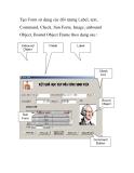 Tạo Form sử dụng các đối tượng Label, text, Command, Check, Sun Form, Image, unbound
