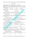 Đề ôn luyện thi môn toán - đề 1