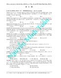 Đề ôn luyện thi môn hóa học - đề 1