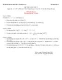 Đề ôn luyện thi môn toán học - đề 1