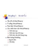 chương7 : bộ nhớ ảo