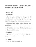 Giáo án sinh học lớp 6 - Bài 12: Thực hành: QUAN SÁT BIẾN DẠNG CỦA RỄ