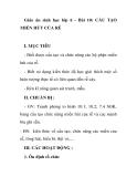 Giáo án sinh học lớp 6 - Bài 10: CẤU TẠO MIỀN HÚT CỦA RỄ