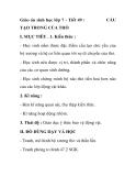 Giáo án sinh học lớp 7 - Tiết 49 : TẠO TRONG CỦA THỎ