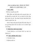 Giáo án sinh học lớp 6 - Bài 44: SỰ PHÁT TRIỂN CỦA GIỚI THỰC VẬT