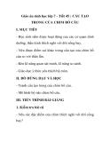 Giáo án sinh học lớp 7 - Tiết 45 : CẤU TẠO TRONG CỦA CHIM BỒ CÂU