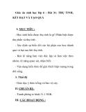 Giáo án sinh học lớp 6 - Bài 31: THỤ TINH, KẾT HẠT VÀ TẠO QUẢ