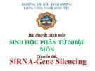 Bài thuyết trình môn Sinh học phân tử - Chuyên đề: SiARN Gene Silencing