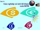 Bài 14:  Các nghiệp vụ sinh lợi khác của ngân hàng thương mại