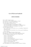 CONCRETE IN HOT ENVIRONMENTS - List of Relevant Standards