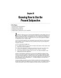 Giáo trình động từ tiếng Pháp - Part V Considering Your Mood: Subjunctive or Not - Chapter 20
