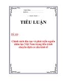 Tiểu luận: Chính sách đào tạo và phát triển nguồn nhân lực Việt Nam trong tiến trình chuyển dịch cơ cấu kinh tế