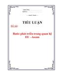 Tiểu luận: Bước phát triển trong quan hệ EU –Asean