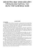 BỒI DƯỠNG HỌC SINH GIỎI LỚP 9 VỚI DẠNG BÀI TẬP P2O5 TÁC DỤNG VỚI NAOH HOẶC KOH