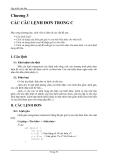 Lập trình C căn bản - CÁC CÂU LỆNH ĐƠN TRONG C
