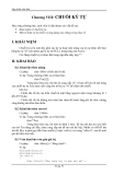 Lập trình C căn bản - Kiểu chuỗi ký tự