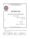 Bài báo cáo quản trị doanh nghiệp thực phẩm