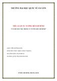 """TIỂU LUẬN TƯ TƯỞNG HỒ CHÍ MINH """"VẤN ĐỀ DÂN TỘC TRONG TƯ TƯỞNG HỒ CHÍ MINH"""""""