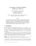 """Báo cáo toán học: """"A q-analogue of Graham, Hoffman and Hosoya's Theorem"""""""
