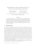 """Báo cáo toán học: """"Asymptotically optimal pairing strategy for Tic-Tac-Toe with numerous directions"""""""