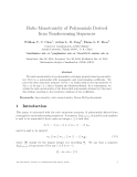"""Báo cáo toán học: """"Ratio Monotonicity of Polynomials Derived from Nondecreasing Sequences"""""""