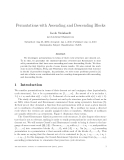 "Báo cáo toán học: ""Permutations with Ascending and Descending Blocks"""