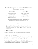 "Báo cáo toán học: ""A combinatorial proof of a formula for Betti numbers of a stacked polytope"""