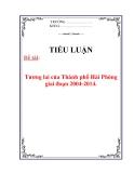 Tiểu luận: Tương lai của Thành phố Hải Phòng giai đoạn 2004-2014.