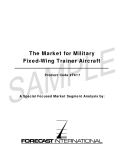 The Market for Military Fixed-Wing Trainer Aircraft