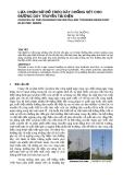 Lựa chọn sơ đồ treo cây chống sét cho đường dây truyền tải điện