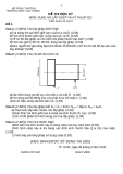 Đề thi học kỳ môn Dung sai lắp ghép và kỹ thuật đo