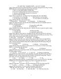 hóa học lớp 12- câu hỏi trắc nghiệm gluxit và polime