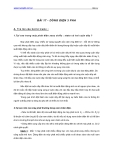 BÀI 17 - DÒNG ĐIỆN 3 PHA