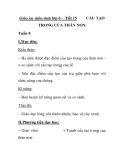 Giáo án môn sinh lớp 6 - Tiết 15 CẤU TẠO TRONG CỦA THÂN NON