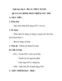 Sinh học lớp 9 - Bài 14: THỰC HÀNH QUAN SÁT HÌNH THÁI NHIỄM SĂC THỂ