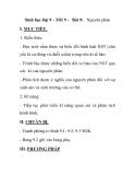 Sinh học lớp 9 - Tiết 9 - Bài 9: Nguyên phân
