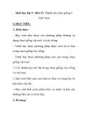 Sinh học lớp 9 - Bài 37: Thành tựu chọn giống ở Việt Nam