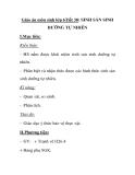 Giáo án môn sinh lớp 6Tiết 30: SINH SẢN SINH DƯỠNG TỰ NHIÊN