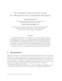 "Báo cáo toán học: ""The asymptotic behavior of the average Lp−discrepancies and a randomized discrepancy"""