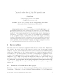 "Báo cáo toán học: ""Crystal rules for (ℓ, 0)-JM partitions"""