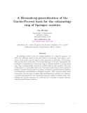 """Báo cáo toán học: """"A Hessenberg generalization of the Garsia-Procesi basis for the cohomology ring of Springer varieties"""""""