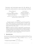 "Báo cáo toán học: ""Invariant and coinvariant spaces for the algebra of symmetric polynomials in non-commuting variables"""