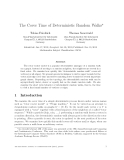 "Báo cáo toán học: ""The Cover Time of Deterministic Random Walks"""