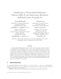 """Báo cáo toán học: """"Classification of Generalized Hadamard Matrices H(6, 3) and Quaternary Hermitian Self-Dual Codes of Length 18"""""""