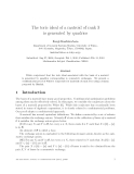 """Báo cáo toán học: """"The toric ideal of a matroid of rank 3 is generated by quadrics"""""""