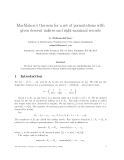 "Báo cáo toán học: ""MacMahon's theorem for a set of permutations with given descent indices and right-maximal record"""