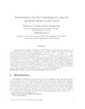 "Báo cáo toán học: ""Enumeration of perfect matchings of a type of quadratic lattice on the toru"""