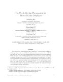 "Báo cáo toán học: ""The Cyclic Sieving Phenomenon for Faces of Cyclic Polytope"""