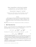 """Báo cáo toán học: """"Some inequalities in functional analysis, combinatorics, and probability theory"""""""